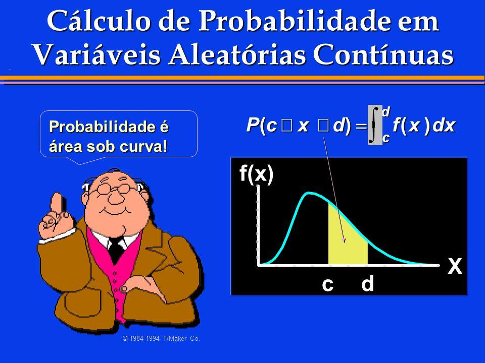 Cálculo de Probabilidade em Variáveis Aleatórias Contínuas