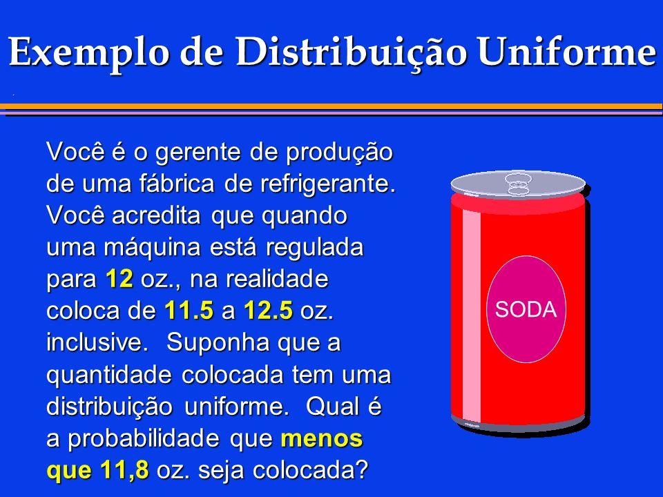 Exemplo de Distribuição Uniforme