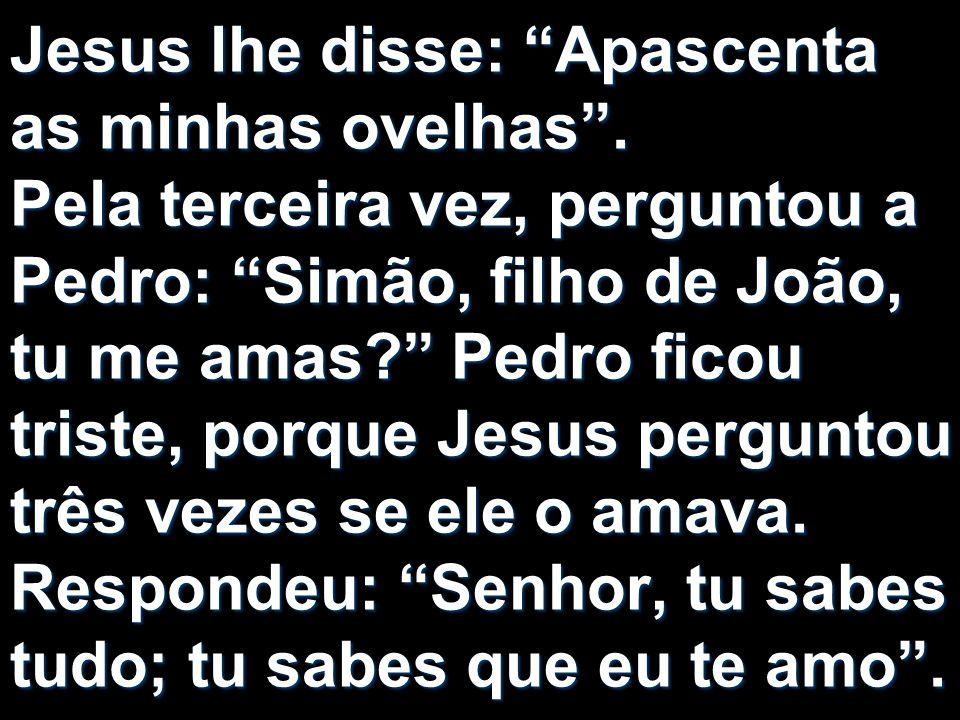Jesus lhe disse: Apascenta as minhas ovelhas
