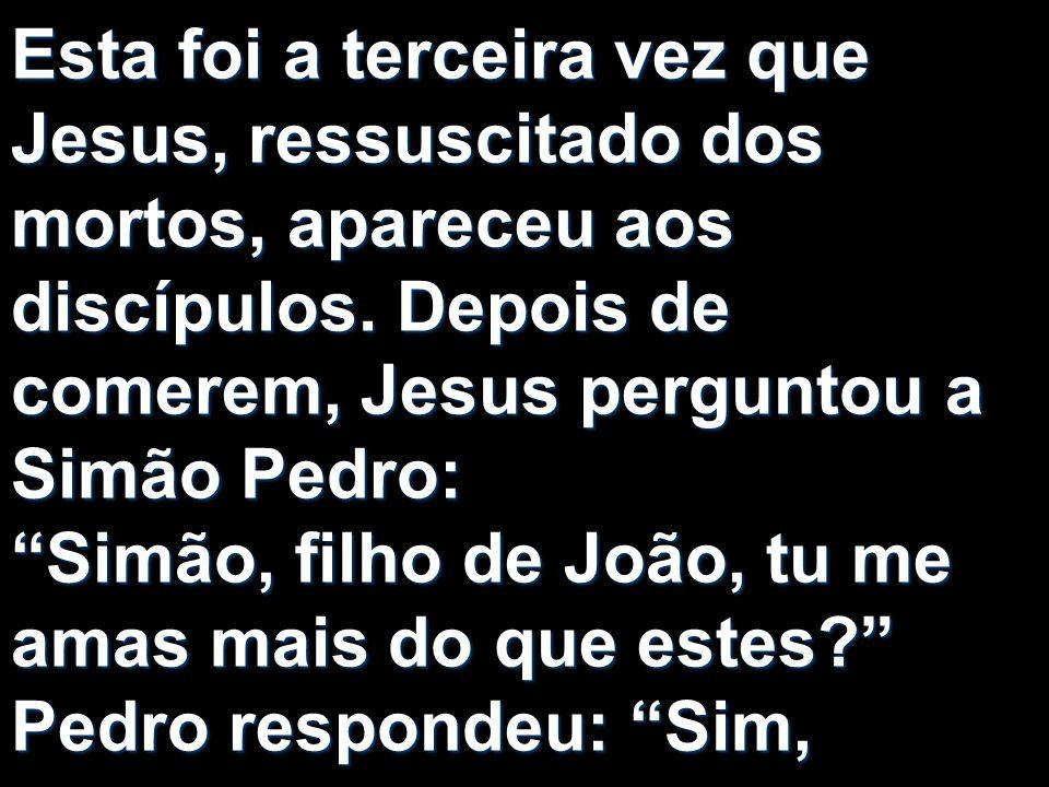 Esta foi a terceira vez que Jesus, ressuscitado dos mortos, apareceu aos discípulos.