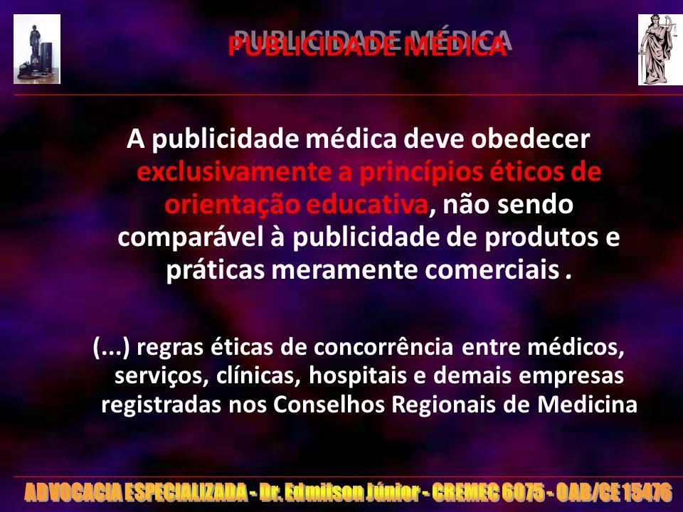 PUBLICIDADE MÉDICA