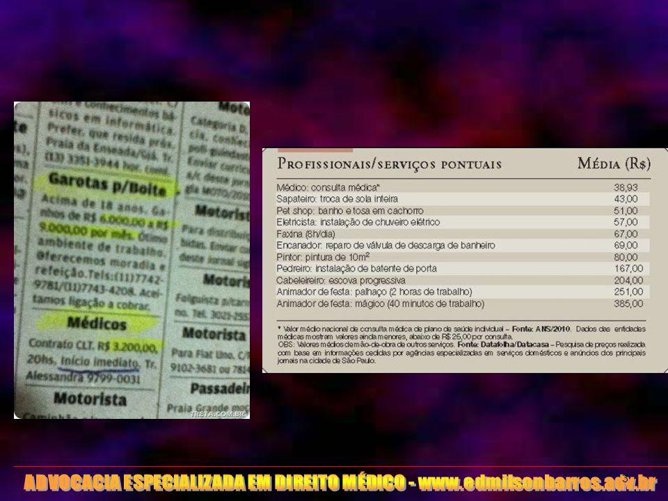 ADVOCACIA ESPECIALIZADA EM DIREITO MÉDICO - www.edmilsonbarros.adv.br