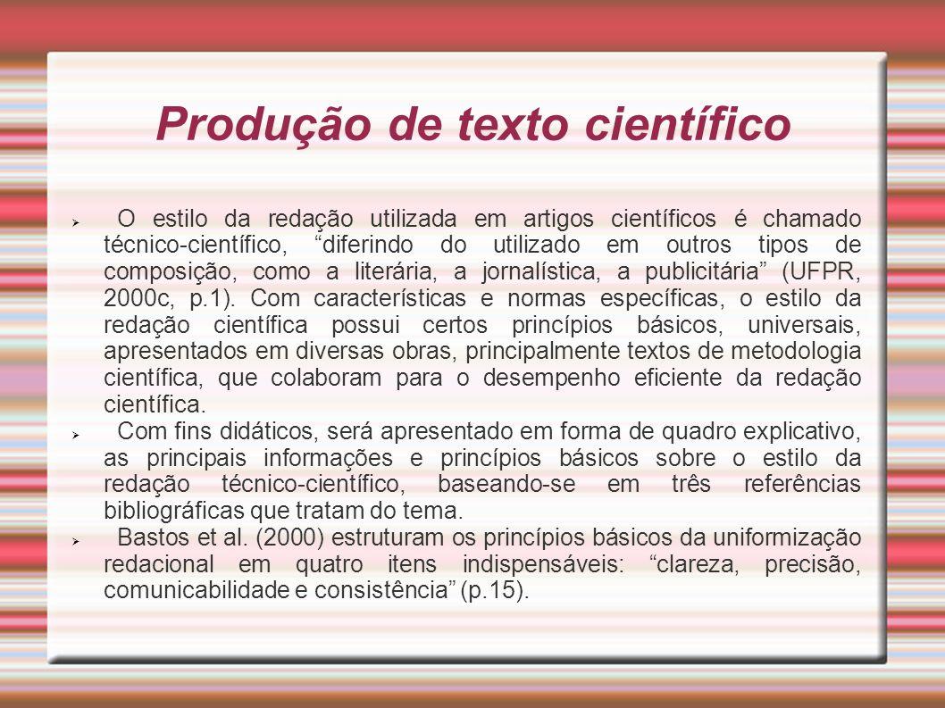 Produção de texto científico