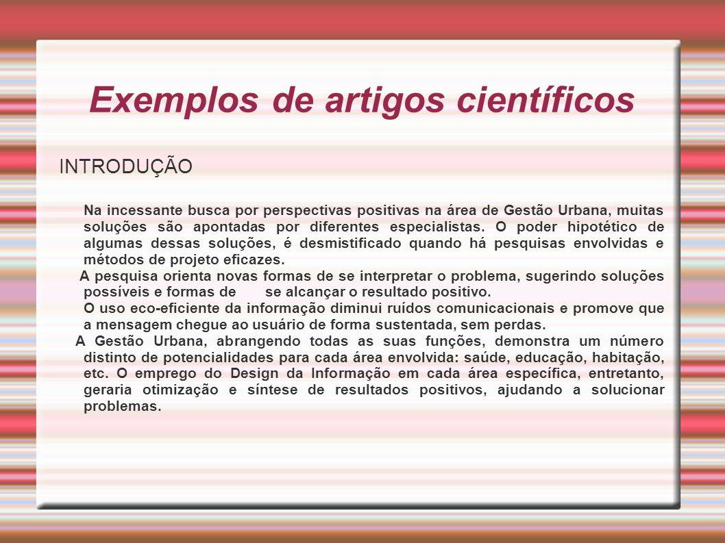 Exemplos de artigos científicos