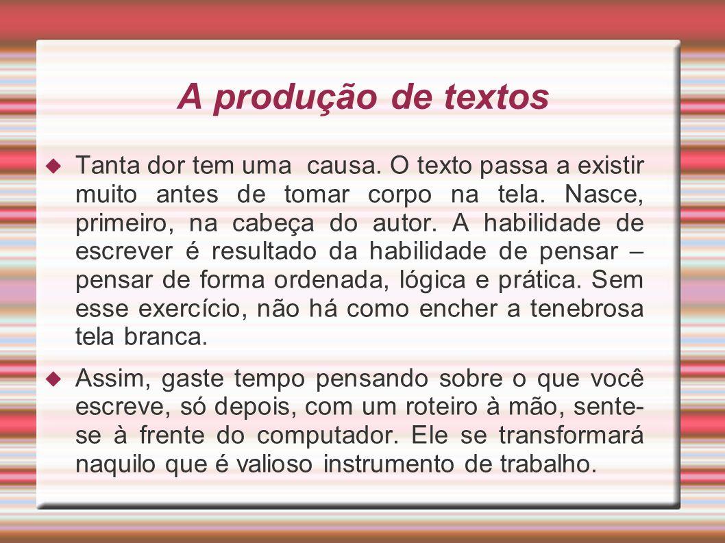 A produção de textos
