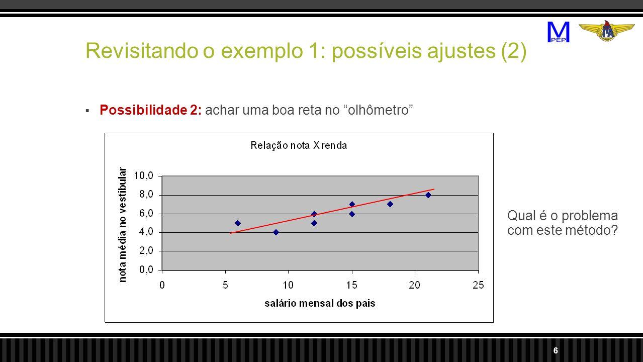 Revisitando o exemplo 1: possíveis ajustes (2)