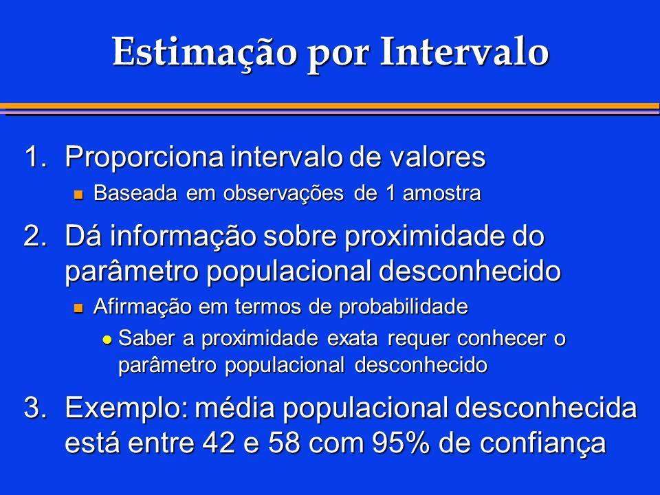 Estimação por Intervalo