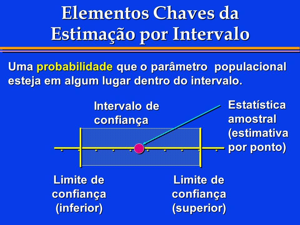 Elementos Chaves da Estimação por Intervalo