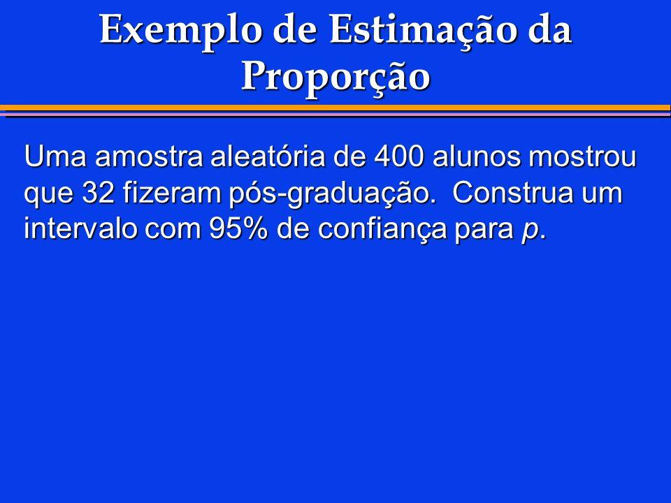Exemplo de Estimação da Proporção