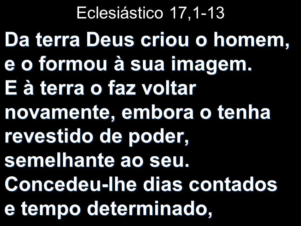 Eclesiástico 17,1-13