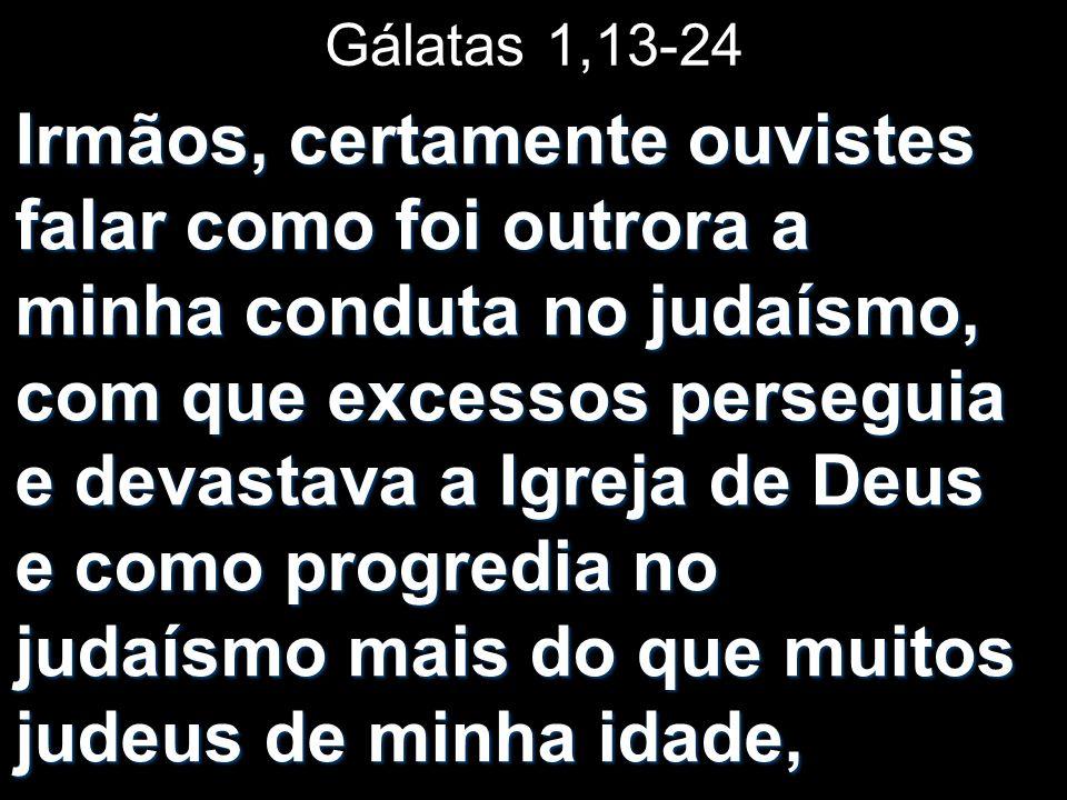 Gálatas 1,13-24