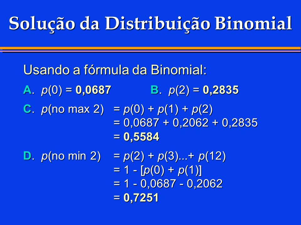 Solução da Distribuição Binomial