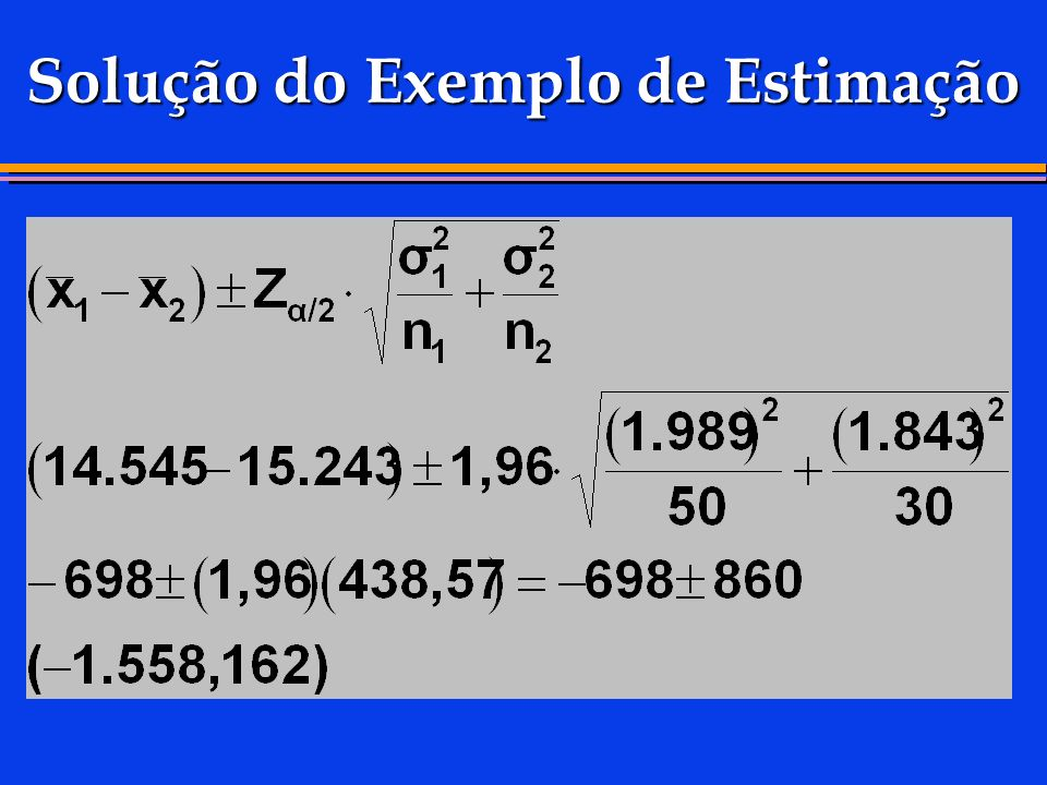 Solução do Exemplo de Estimação