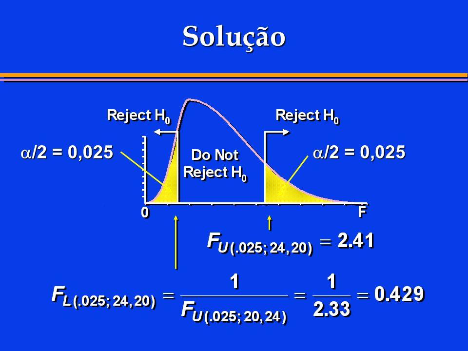 Solução /2 = 0,025 /2 = 0,025 73