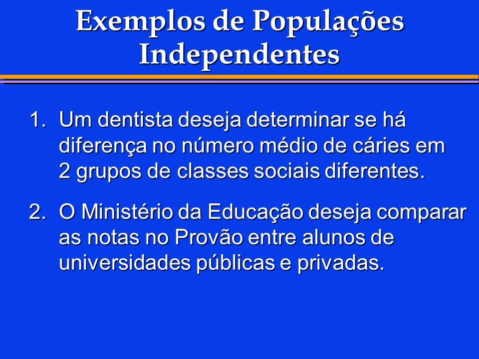 Exemplos de Populações Independentes