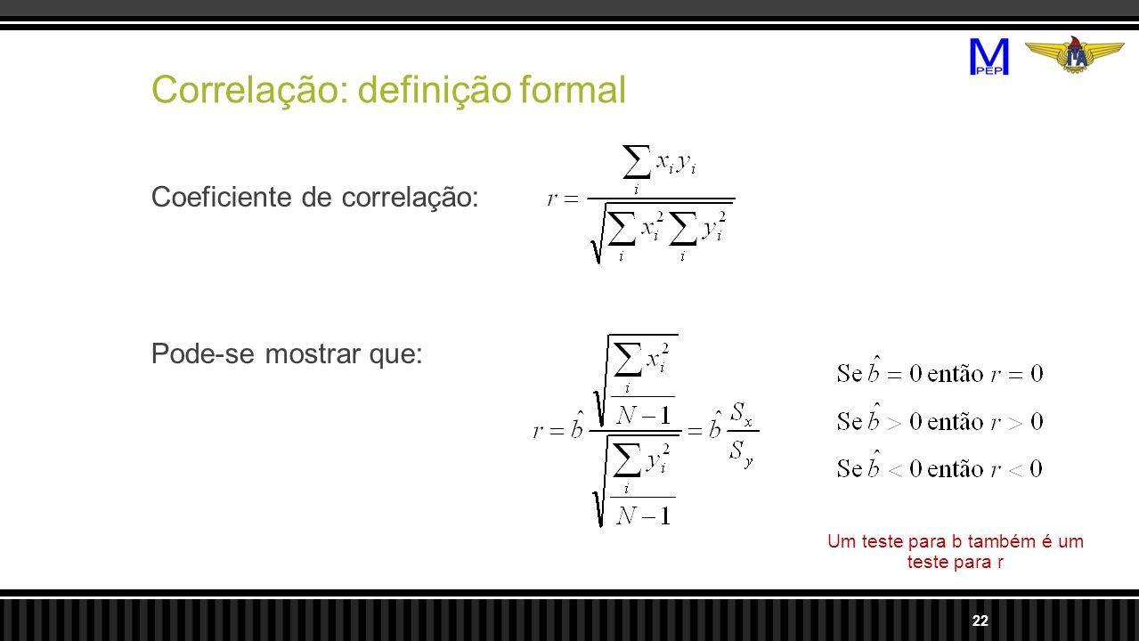 Correlação: definição formal