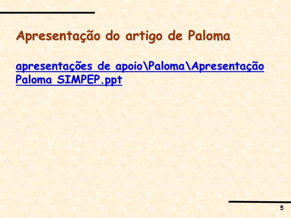 Apresentação do artigo de Paloma