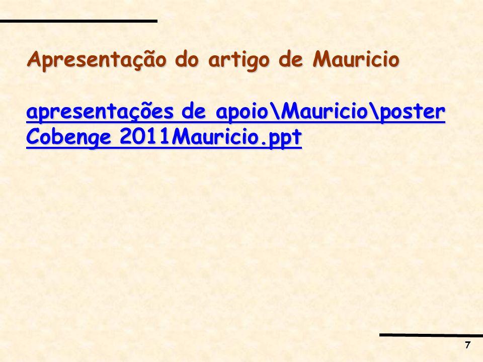 Apresentação do artigo de Mauricio