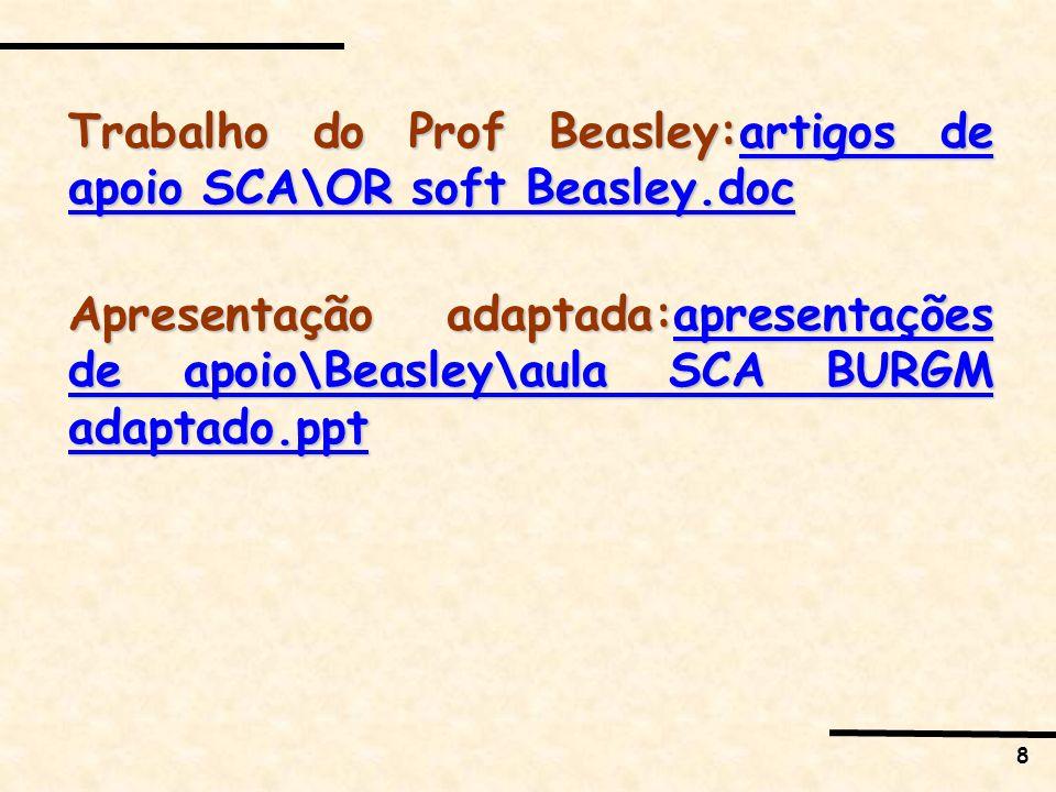 Trabalho do Prof Beasley:artigos de apoio SCA\OR soft Beasley.doc