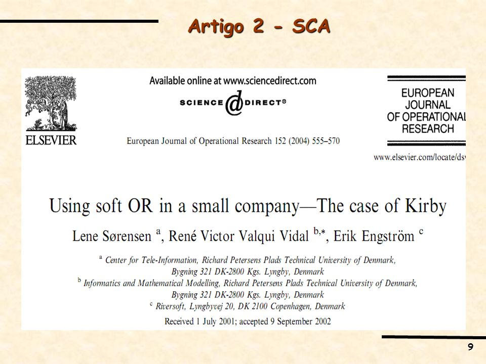 Artigo 2 - SCA