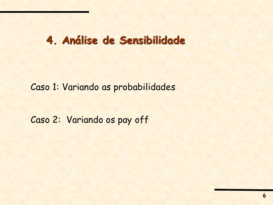 4. Análise de Sensibilidade