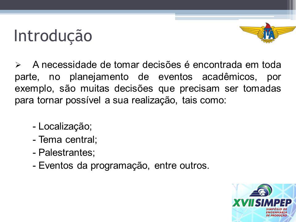 Introdução - Localização; - Tema central; - Palestrantes;