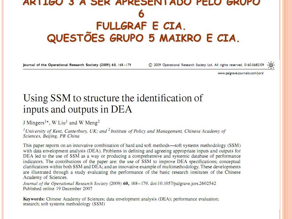 ARTIGO 3 A SER APRESENTADO PELO GRUPO 6 FULLGRAF E CIA