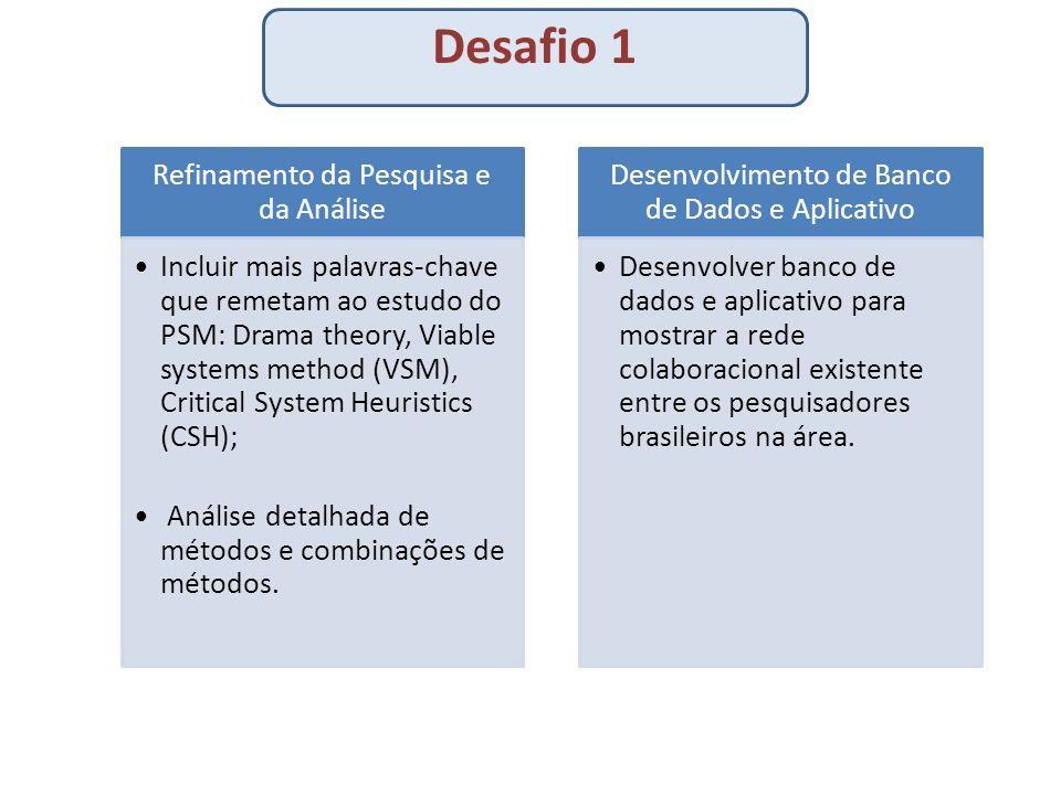 Desafio 1 Refinamento da Pesquisa e da Análise.