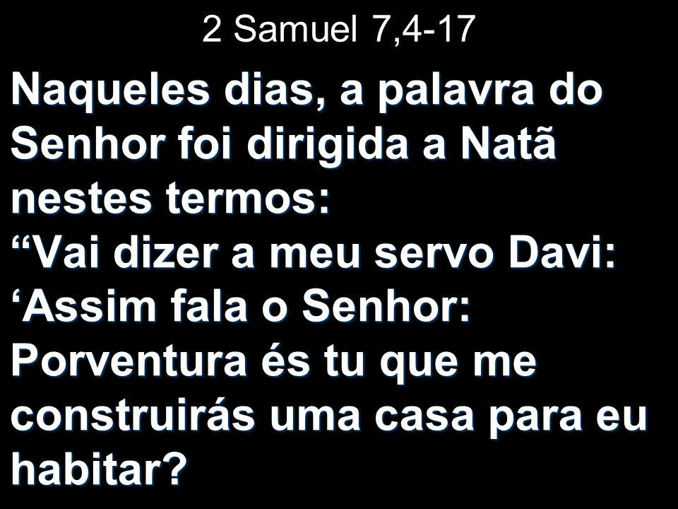 2 Samuel 7,4-17