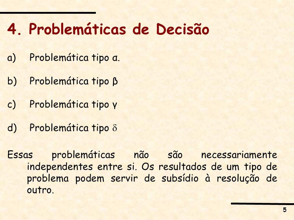 4. Problemáticas de Decisão
