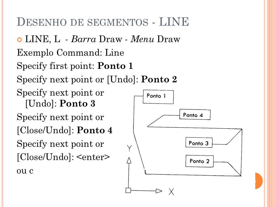 Desenho de segmentos - LINE