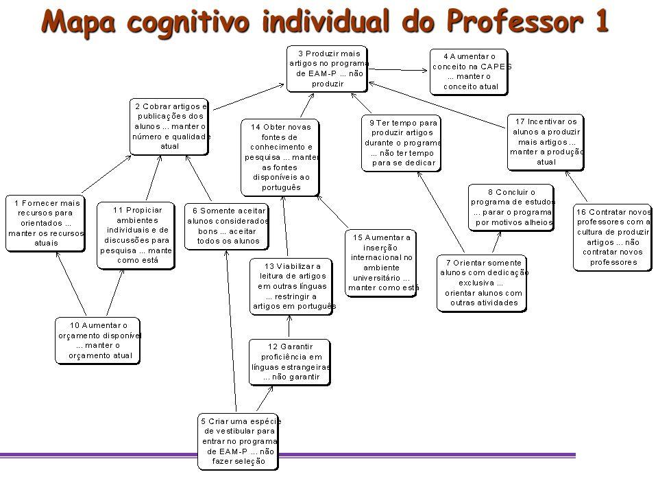 Mapa cognitivo individual do Professor 1