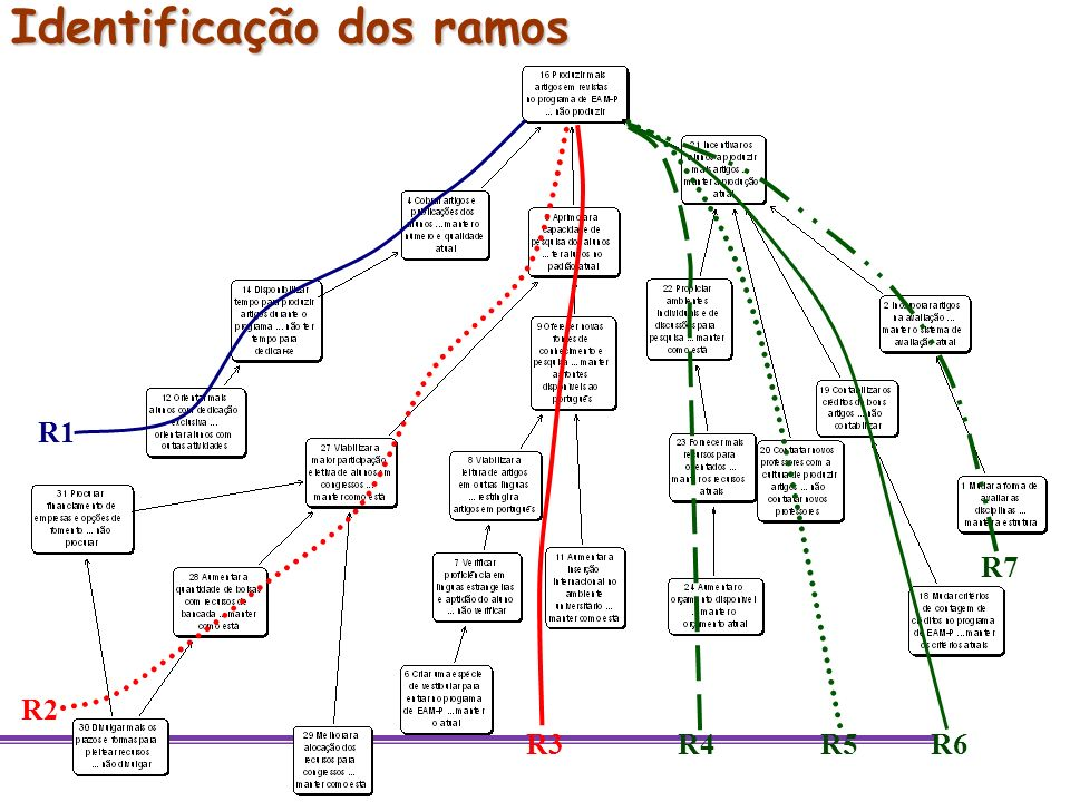 Identificação dos ramos