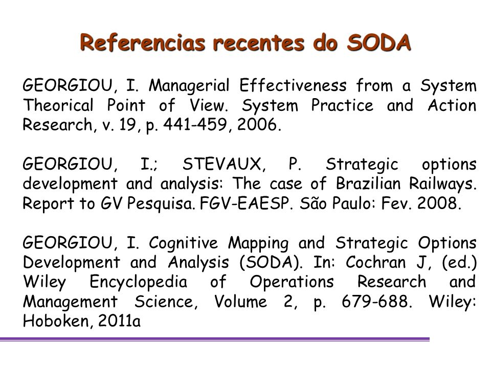 Referencias recentes do SODA