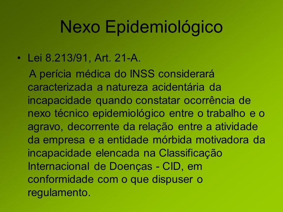 Nexo Epidemiológico Lei 8.213/91, Art. 21-A.