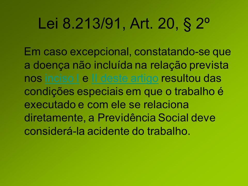 Lei 8.213/91, Art. 20, § 2º