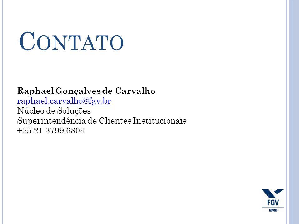 Contato Raphael Gonçalves de Carvalho raphael.carvalho@fgv.br