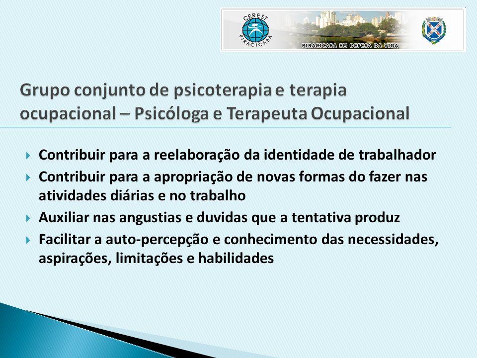Grupo conjunto de psicoterapia e terapia ocupacional – Psicóloga e Terapeuta Ocupacional