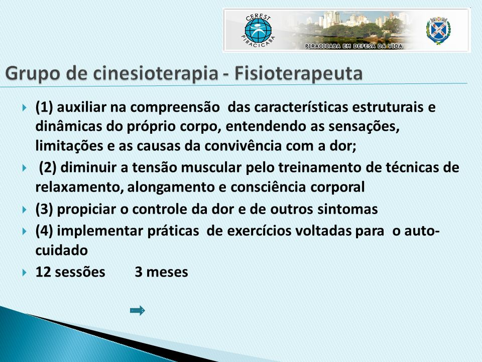 Grupo de cinesioterapia - Fisioterapeuta