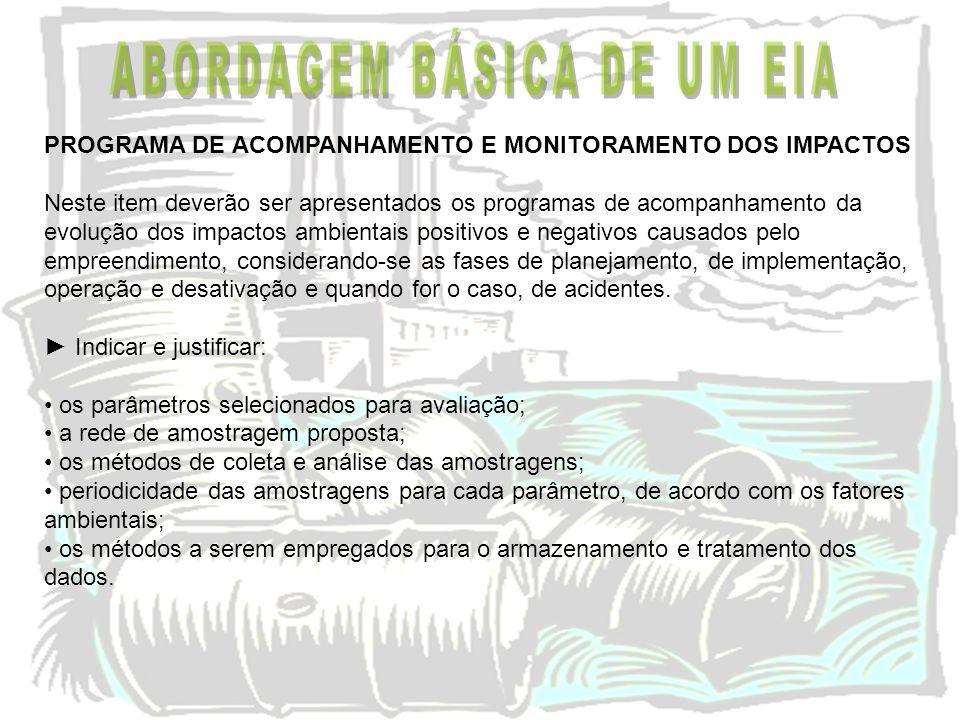 ABORDAGEM BÁSICA DE UM EIA