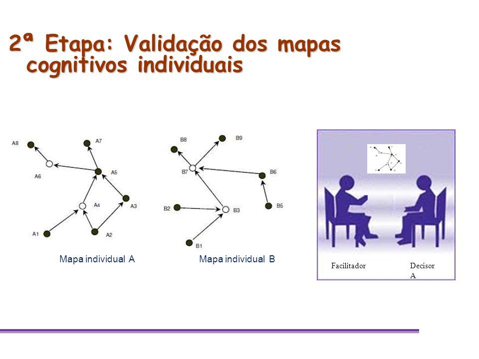 2ª Etapa: Validação dos mapas cognitivos individuais