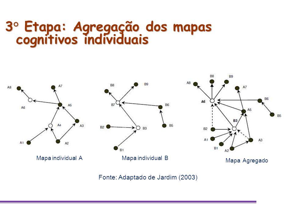 3° Etapa: Agregação dos mapas cognitivos individuais