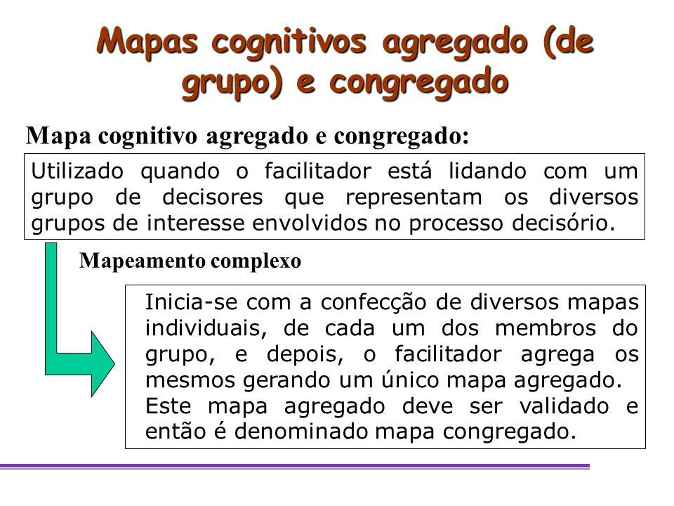 Mapas cognitivos agregado (de grupo) e congregado
