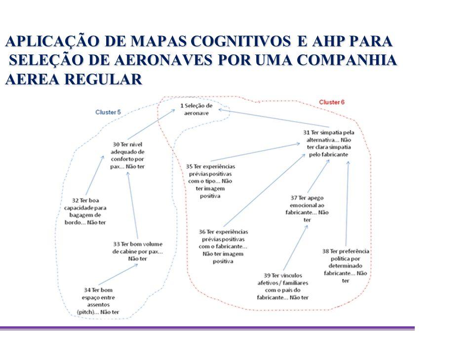 APLICAÇÃO DE MAPAS COGNITIVOS E AHP PARA SELEÇÃO DE AERONAVES POR UMA COMPANHIA AEREA REGULAR