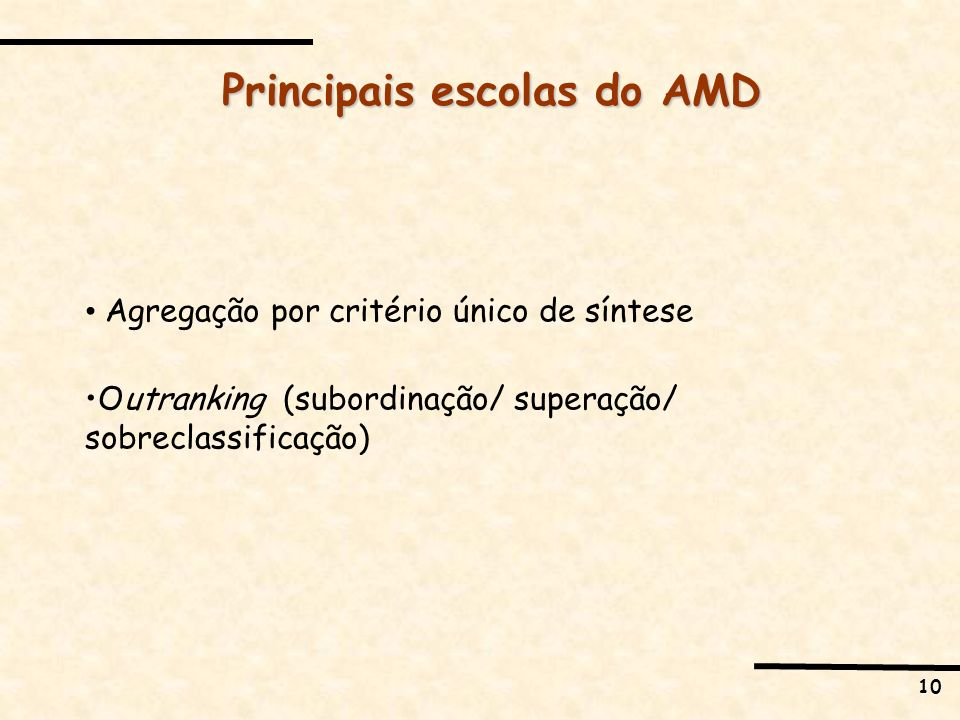 Principais escolas do AMD
