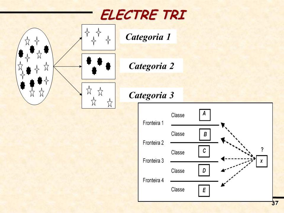 ELECTRE TRI Categoria 2 Categoria 3 Categoria 1