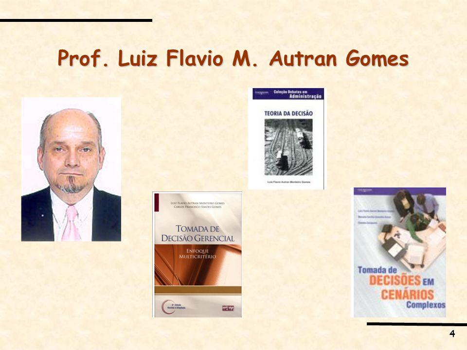 Prof. Luiz Flavio M. Autran Gomes