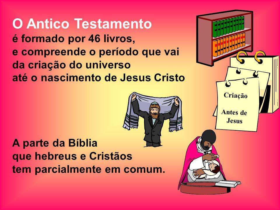 O Antico Testamento é formado por 46 livros,