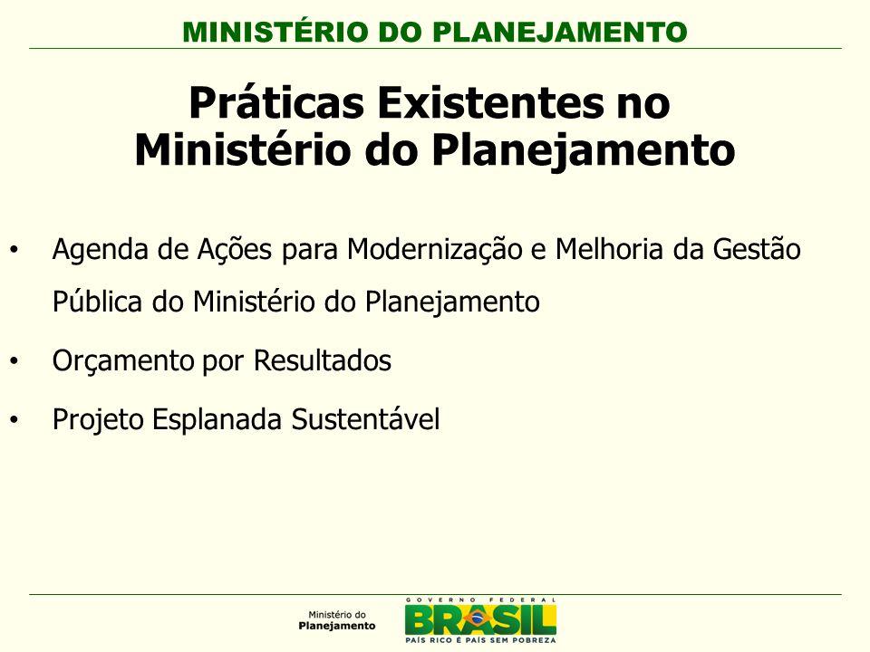 Práticas Existentes no Ministério do Planejamento