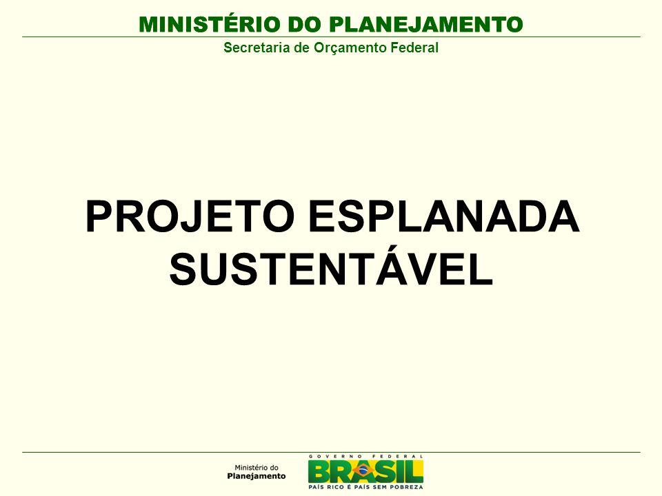 Secretaria de Orçamento Federal PROJETO ESPLANADA SUSTENTÁVEL
